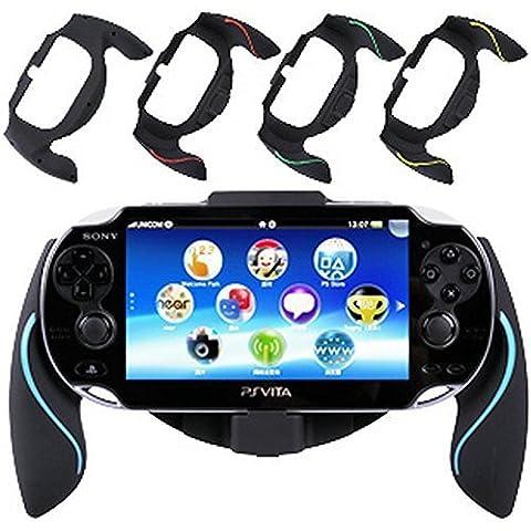 Generic Durable Joypad Bracket Holder Case Hand Grip Handle Compatible for Sony PSV PS Vita Color Blue [Importación