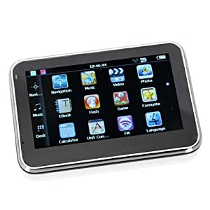 Rupse Portable 4.3 inch Touch Screen Car GPS System Sat Nav Satnav Navigation with Multimedia Player MP3 MP4 FM 4GB