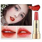 Rouges à lèvres,Innerternet Rouge à lèvres imperméable durable de brillant à lèvres double face de miroir sexy mat (A)