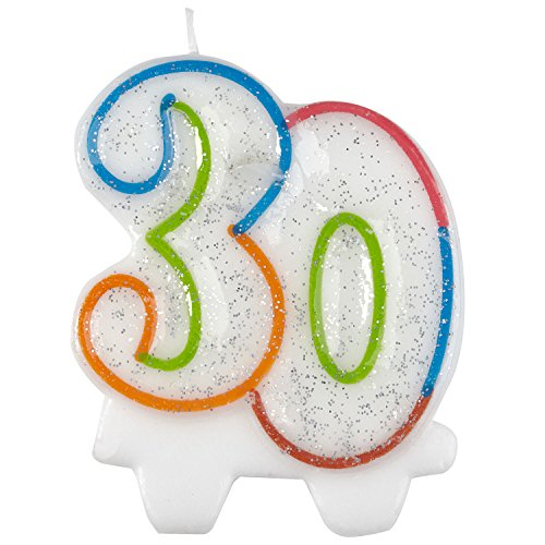 amscan 99008107,5cm Milestone 30. Geburtstag Kerze