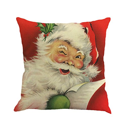 Vovotrade Weihnachts Baumwoll Leinen Sofa Auto Haupttaillen Kissen Abdeckungs Wurf KissenKasten (B) (Herr Und Frau Wurf-kissen-abdeckungen)