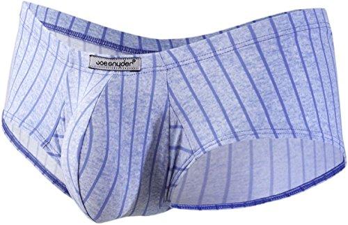 Joe Snyder Herren Boxershort, Gestreift * Gr. X-Large, Line Blue (Boxer Unterwäsche Joe)
