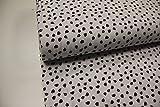 Stoff / 50cmx140cm / Kinder/Beste Jersey-Qualität/Jersey Marienkäfer Klein auf weiß