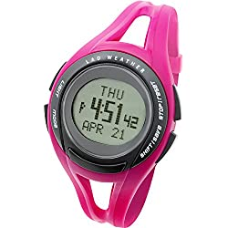[LAD WEATHER] Running Master Chronograph with 100 Laps Distance Pace Speed Calories Sports Wrist watches