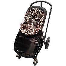Animal Print acolchado saco/Cosy Toes Compatible con Uppababy Vista/Cruz/G-Luxe jirafa