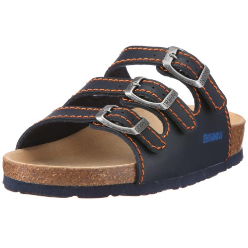 Dr. Brinkmann 505111, Unisex-Kinder Pantoletten - Blau (ozean/orange), 30 EU (12 Kinder UK)
