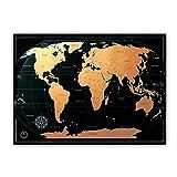 Weltkarte Zum Rubbeln - Kronewerk - Edles Design, Deutsch, XXL-Poster, 88x65 cm, World Map for Scratching, Landkarte zum freirubbeln