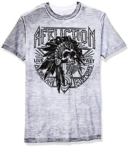 Affliction Herren Sketch Tribe T-Shirt, weiß, Mittel Affliction Hoodie