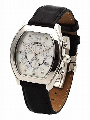 Calvaneo 726 - Reloj de pulsera hombre, piel, color negro