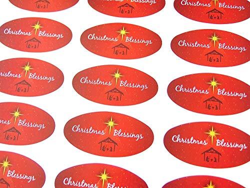 he, Religiöse Weihnachten Oval Sticker, Bunt Umschlag Dichtung Etiketten Für Karten, Fest Basteln und Deko ()