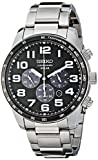 Seiko Men's SSC229 Sport Solar-Power Stainless Steel Bracelet Watch