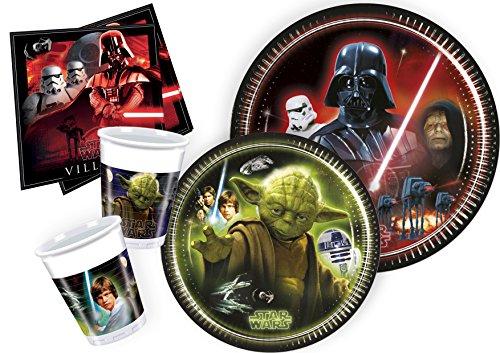 Ciao Y2533–Party-Set Star Wars für 8Personen (44Teile: 8große Teller, 8mittelgroße Teller, 8Becher, 20Servietten). (Star Wars Party)