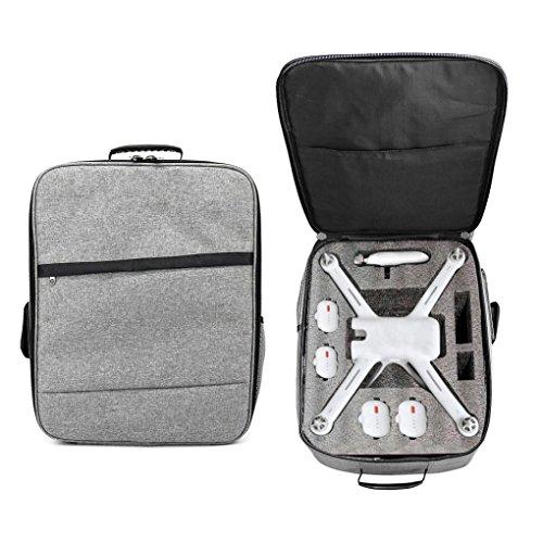 WINWINTOM 2018 Nuevo Intemperie A prueba de choques Mochila Bolsa de Hombro Suave Carry Bag Para XIAOMI Mi Drone (Gris)
