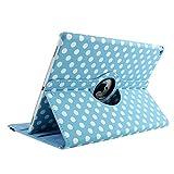 Tasche für 9,7 Zoll iPad Air 2, TechCode 360 Grad Rotation Ständer PU Leder Tasche Schutzhülle Folio Weiche Gummi Hülle für Apple iPad air 2 (iPad air 2, Blau)