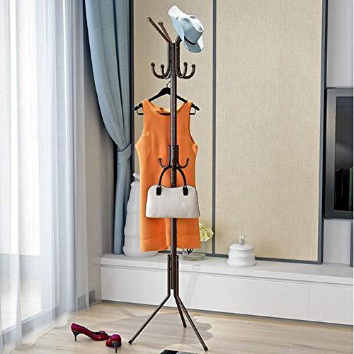 GWFVA Regal Kleiderständer Mantel 32 MM Rohrboden Kleiderbügel Kleiderbügel Bett Metall Kleiderbügel (Farbe: Bronze) -