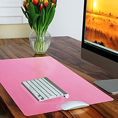 casa pura® Non-Slip Pink Desk Mat | Desk Pad with Smooth Surface | 50x65cm (1.6'x2') | PVC & Phthalate Free | In 10 Colours