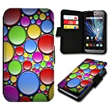 Book Style Wiko Fizz Premium PU-Leder Tasche Flip Brieftasche Handy Hülle mit Kartenfächer für Wiko Fizz - Design Flip SB5