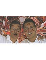 Fan Tattoo Fußball - Flaggen - Fanartikel - Karneval - Deutschland - Germany - Deutschlandfarben - Fanmeile - Public Viewing - Biergarten - Fussballfieber - Fussballfan - Körperschmuck - Fussballmotive - Deutschlandmotive - EM - WM - 30 Stück