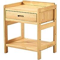 Preisvergleich für Small coffee table Haushalts-Feste Holz-Möbel-Nachttisch-Multifunktionsschließfach-Sofa-Beistelltisch, einfach, Fächer zu säubern, passend für Schlafzimmer/Wohnzimmer, 48 * 38 * 58CM