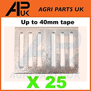APUK 25 Electric fence fencing tape connector Plates Joiners Metal 20/40mm connection