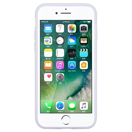 HB-Int für iPhone 7 Plus Weich Silikon Hülle Licht Durchlässig Transparent Ultra Dünn Schutzhülle Einhorn Stern Flexible Full Body Case Bumper Shell Handytasche Mini Einhorn
