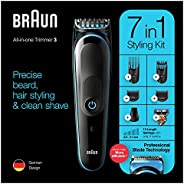 Braun MGK 3245 All-in-one Trimmer 7-in-1 Beard Trimmer, Hair Clipper, Detail Trimmer, Rechargeable, with Gille