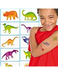 Baker Ross Tatouages temporaires pour enfants Dinosaures (Lot de 24)