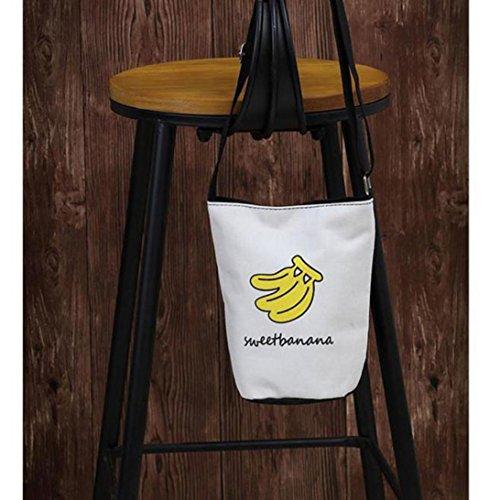 Kingko® Große Kapazität Einfache Tasche Messenger Schultertasche Handtasche C