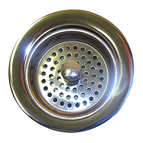 LASCO 03-1039 Heavy Duty Brass Body Chrome Plated Kitchen Sink Basket Strainer Assembly for 3-1/2-Inch Opening by LASCO