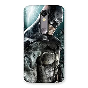 Stylish Premier Knight Force Multicolor Back Case Cover for Moto X Force
