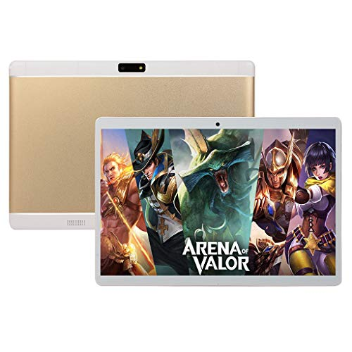 Jamicy® Android 8.1 Tablet 10,1 Zoll Dual-SIM 1280 x 800 Full HD IPS Touchscreen Dual Kamera 2MP und 2MP, 1GB RAM 16GB Speicher 10 Core MT6797 CPU, WiFi/WLAN/Bluetooth/GPS (Gold) S4 Core