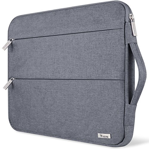 Voova Laptophülle Laptoptasche 14-15.6 Zoll Wasserdicht Notebooktasche 15.6 Zoll Schlank Schutzhülle Kompatibel mit Laptop Ultrabooks/Netbooks/MacBook (Grau)
