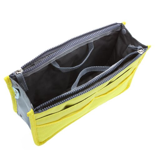 Ducomi® Handtaschen-Organizer mit 13 großen Taschen: Dokumente, Telefon, Make-up, Schlüssel an Ihren Fingerspitzen (Green) Yellow