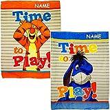 alles-meine.de GmbH 2 TLG. Set - Kuscheldecke / Fleecedecke - Disney - Winnie Pooh - inkl. Name - 75 cm * 100 cm - Decke aus Fleece - für Mädchen Jungen - Schmusedecke - Winter S..