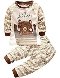 HENGSONG Ours Grizzly Impression Garçons Filles Coton Pyjama Bébé Four Seasons Sous-vêtements Ensembles Enfants