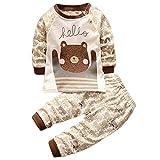 HENGSONG Ours Grizzly Impression Garçons Filles Coton Pyjama Bébé Four Seasons Sous-vêtements Ensembles Enfants (80cm)