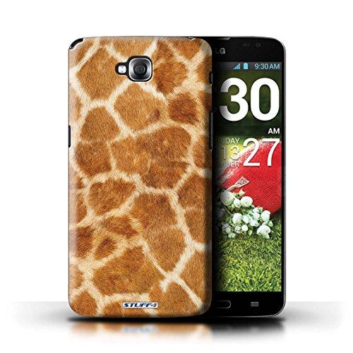 Kobalt® Imprimé Etui / Coque pour LG G Pro Lite/D680 / Zèbre conception / Série Motif Fourrure Animale Girafe
