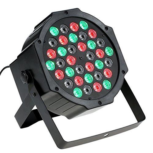 Docooler RGB Hohe Helle PAR Licht mit Fernsteuerpult/Stadiums Lampen, Farben Gemischtes RGB Licht, DMX512 Stichhaltige Aktivierung, 36LED 36W 7Channel