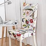 Freedom Style Floral Gedruckt Universal Spandex Stretch Kurze Abnehmbare Elastische Tuch Stuhl Abdeckungen Bankett Stil Stuhlhussen Color 17 universal Sizes