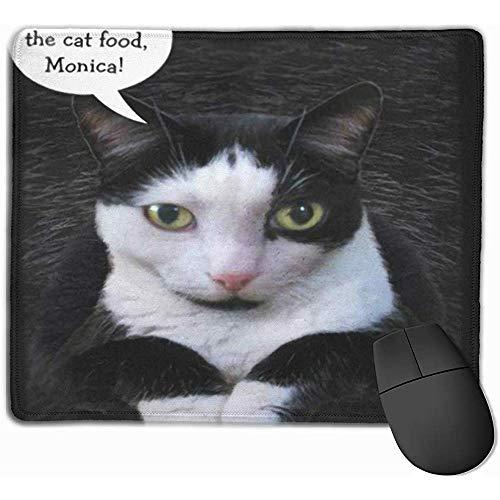Nettes Gaming-Mauspad, Schreibtisch-Mauspad, Maus-Matte Oskar Erinnern Sie Sich an das Katzenfutter-Porträt-Smoking Schwarz-Weiß