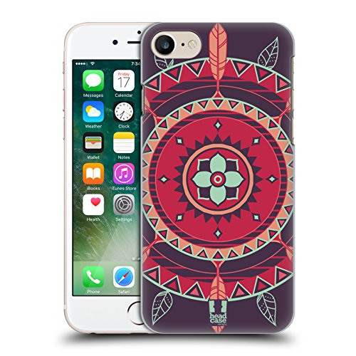 Head Case Designs Violetto Monogrammi Indiani Cover Retro Rigida per Apple iPhone 7 Plus / 8 Plus Violetto