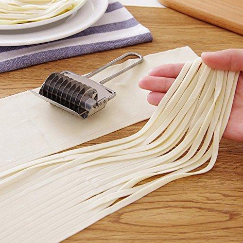 Nudeln Messer Schalotte Schere Schöpfern Haushalt Edelstahl Abschnitt rutschfester Griff Drücken Maschine Form, silber