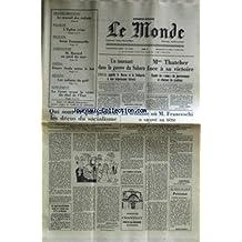 MONDE (LE) [No 11935] du 12/06/1983 - UN TOURNANT DANS LA GUERRE DU SAHARA - MME THATCHER FACE A SA VICTOIRE - LES DECUS DU SOCIALISME - LA SEMAINE OU M. FRANCESCHI A SAUVE SA TETE - LE TRAVAIL DES ENFANTS - GRANDE-BRETAGNE - POLOGNE - L'EGLISE REINE - SOEUR EMMANUELLE - M ROCARD - AGRICULTURE - ETTORE SCOLA - LES ENFANTS DU GOLF - LA CORSE - G. DEFFERRE.
