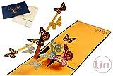 LIN 17539 - POP UP Karten Schmetterling, 3D Karten Natur, Klappkarten Geburtstag, Geburtstagskarten, Muttertagskarten, Grußkarten Schmetterlinge, N293