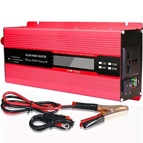 FEIFEIJ 2000W Power Inverter DC 12V to AC Outlet 220V Voltage Converter mit Cigarette Lighter Adapter in Car und Crocodile Clip für Batterie