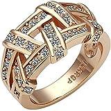 18K Rose Gold Plated, Pave Set, Clear Swarovski Crystal Elements, Fashion Band Ring