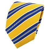 TigerTie - Corbata - amarillo-naranja azul blanco rayas