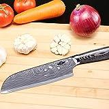 Kitchen Emperor Santokumesser, Küchenmesser, Kuechenmesser Scharfe Klinge, Prämie Rostfreier Stahl Chef Messer mit pakakaholzgriff - 4