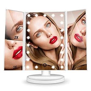 cosmética: Espejo de Mesa, [Regalos San Valentín] HAMSWAN Espejo de Maquillaje Tríptico con...