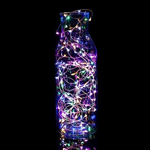 Malloom Cadena luz 30 LED con pilas decoración Navidad luces fiesta boda (multicolor)